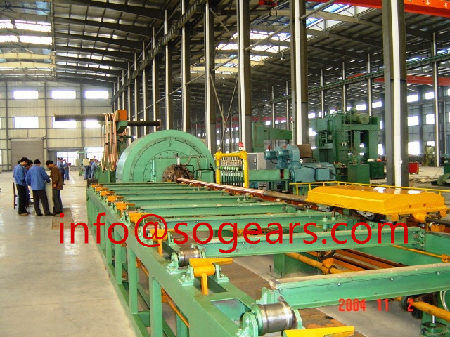 Plastic extrusion machinery gearbox